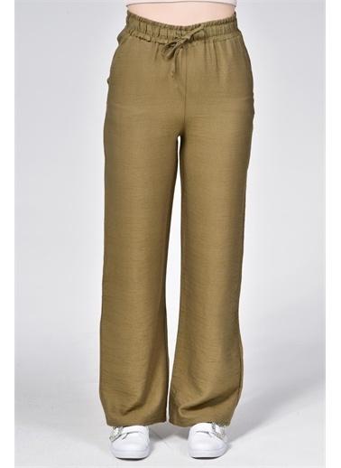 Rodi Jeans Kadın Airobinli Bol Paça Beli Lastikli Pantolon Rd21Yb011241 Yeşil
